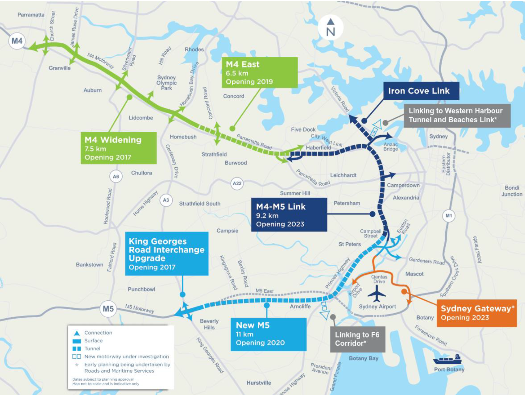 WestConnex 3B – M4-M5 Link Rozelle Interchange